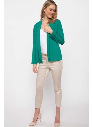 DeFacto Blazer Ceket Yeşil